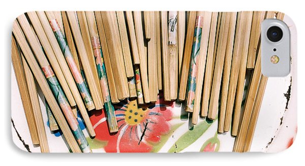 Chinese Chopsticks On A Colorful Plate IPhone Case by Dean Harte