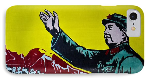 Chinese Communist Propaganda Poster Art With Mao Zedong Shanghai China IPhone Case