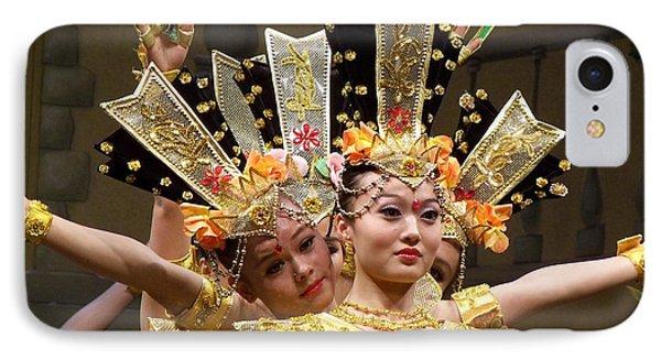Chinese Dancers Perform Thousand Hands Guan Yin IPhone Case by Lingfai Leung
