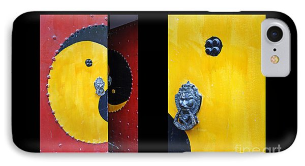 Shanghai iPhone 7 Case - Chinese Doors Diptych by Delphimages Photo Creations