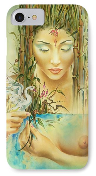 IPhone Case featuring the painting Chinese Fairytale by Anna Ewa Miarczynska