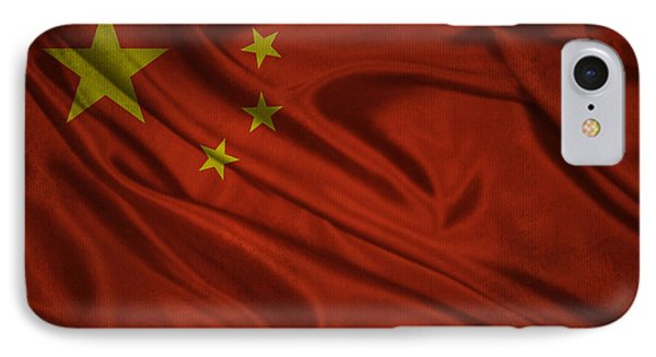 Chinese Flag Waving On Canvas IPhone Case by Eti Reid