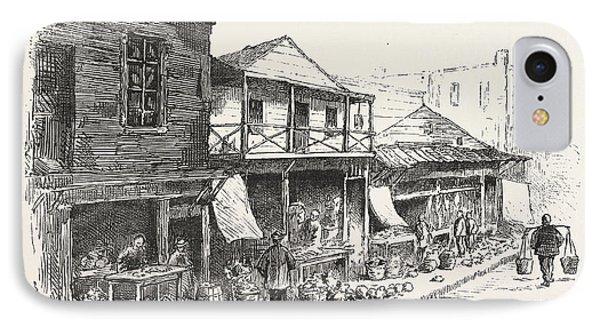 Chinese Market Sacramento Street, The Chinese Quarters, San IPhone Case by American School