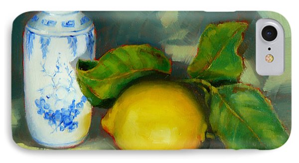 Chinese Pot And Lemon IPhone Case by Margaret Stockdale
