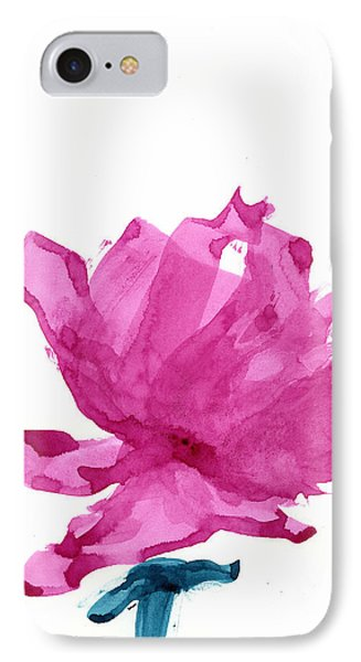 IPhone Case featuring the painting Chinese Rose Hibiscus by Frank Bright
