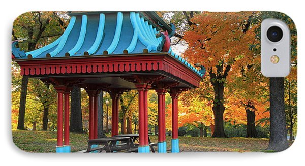 Chinese Shelter In Autumn IPhone Case