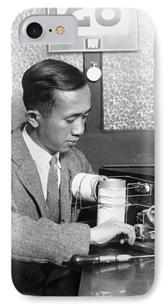 Chinese Student Wires Radio IPhone Case by Underwood Archives