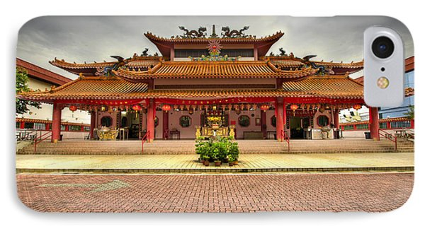 Chinese Temple Paved Square Phone Case by David Gn