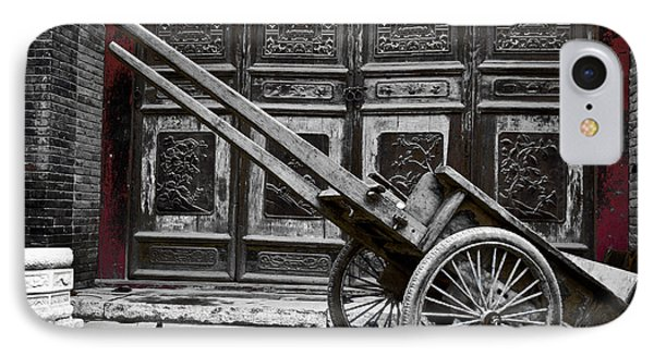IPhone Case featuring the photograph Chinese Wagon In Black And White Xi'an China by Sally Ross