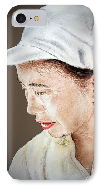 Chinese Woman With A Hairy Facial Mole II IPhone Case