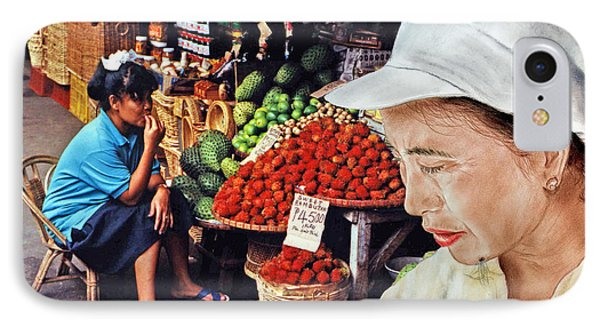 Chinese Woman With A Facial Mole IIi IPhone Case by Jim Fitzpatrick