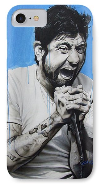 ' Chino Moreno ' IPhone Case by Christian Chapman Art