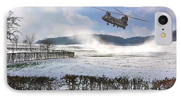 Chinook In Snow Dust Phone Case by Nop Briex