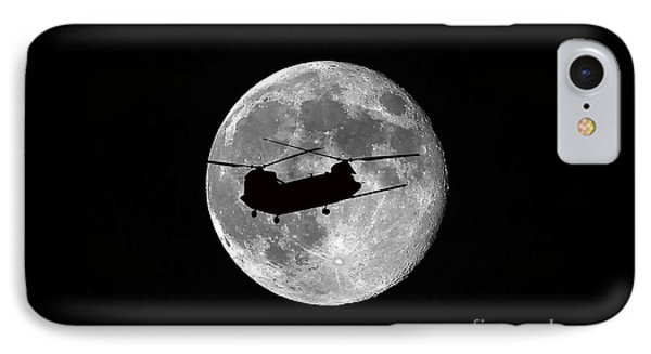 Chinook Moon B And W Phone Case by Al Powell Photography USA