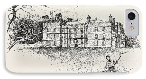 Chipchase Castle,  Is A 17th-century Jacobean Mansion IPhone Case by English School