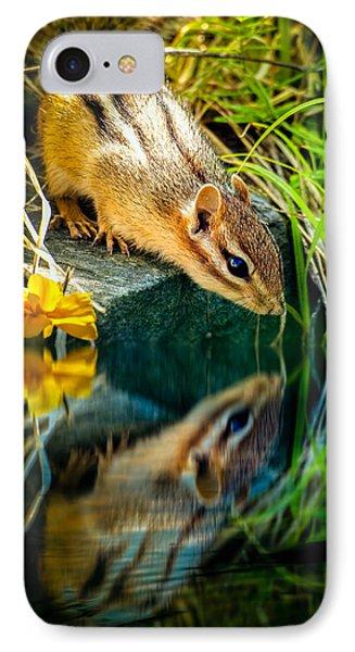 Chipmunk Reflection IPhone Case by Bob Orsillo