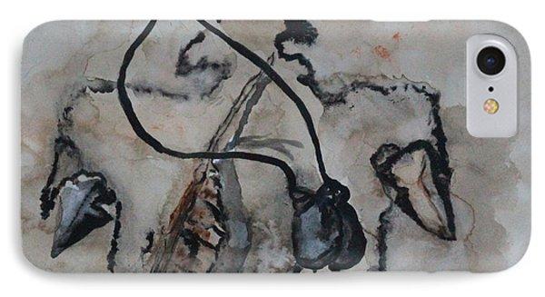 IPhone Case featuring the painting Chippewa Medicine Eagle by Ayasha Loya
