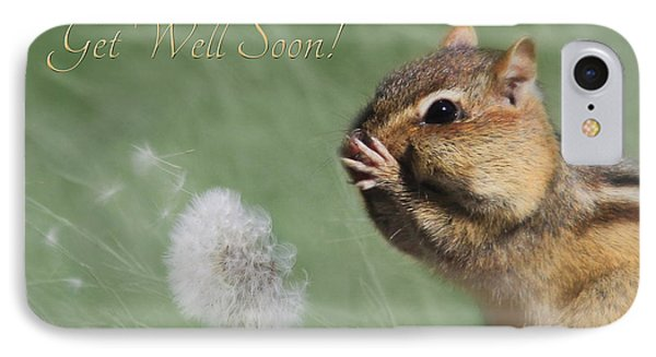 Chippy Get Well Soon IPhone Case by Lori Deiter