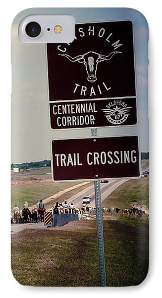 Chisholm Trail Centennial Cattle Drive Phone Case by Toni Hopper