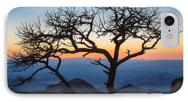 Chisos Tree IPhone Case by Inge Johnsson