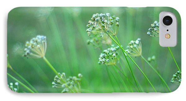 IPhone Case featuring the photograph Chive Garden by Suzanne Powers