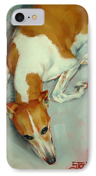Chloe The Whippet IPhone Case by Margaret Stockdale
