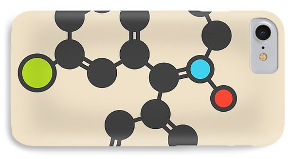 Chlordiazepoxide Sedative Molecule IPhone Case by Molekuul