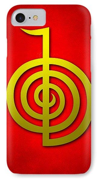 Cho Ku Rei - Traditional Reiki Usui Symbol Phone Case by Cristina-Velina Ion