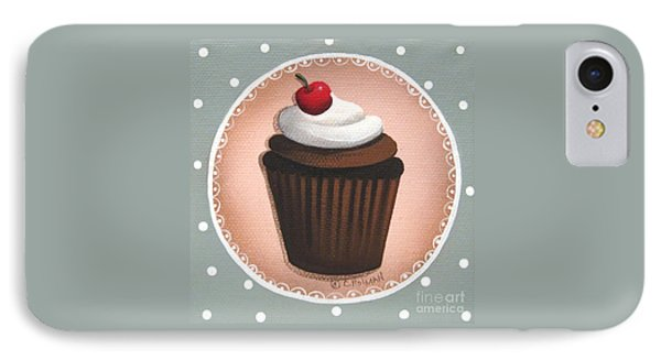 Chocolate Cherry Chip Cupcake Phone Case by Catherine Holman