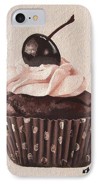Chocolate Cherry Cupcake Phone Case by Kayleigh Semeniuk