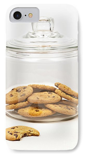 Chocolate Chip Cookies In Jar Phone Case by Elena Elisseeva