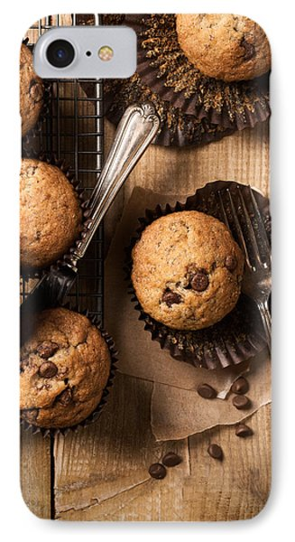 Chocolate Chip Muffins IPhone Case by Amanda Elwell