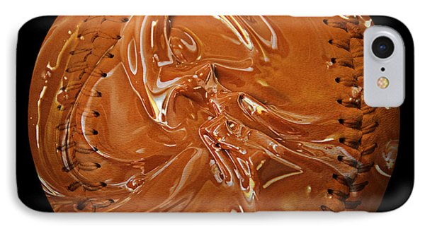 Chocolate Dipped Baseball Square Phone Case by Andee Design