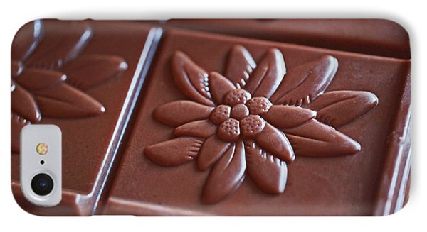 Chocolate Flower  Phone Case by Rona Black
