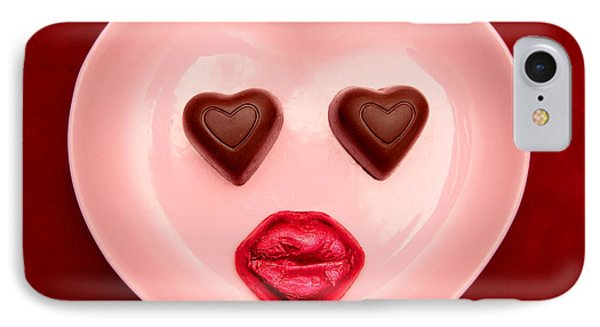Chocolate Heart Face IPhone Case by Pattie Calfy