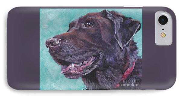 Chocolate Lab IPhone Case by Lee Ann Shepard