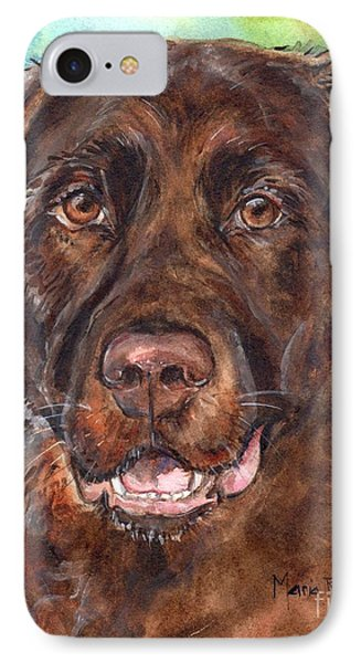 Chocolate Lab IPhone Case by Maria's Watercolor