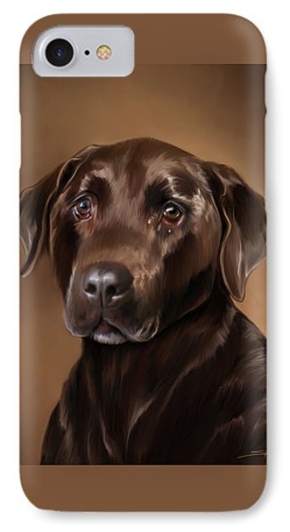 Chocolate Lab Phone Case by Michael Spano