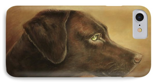 IPhone Case featuring the painting Chocolate Lab by Patricia Schneider Mitchell