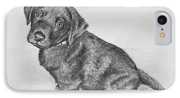 Chocolate Lab Puppy Artwork IPhone Case