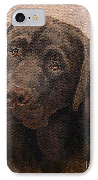 Chocolate Labrador Retriever Portrait IPhone Case