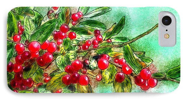 Chokecherry Branch IPhone Case by Ric Darrell