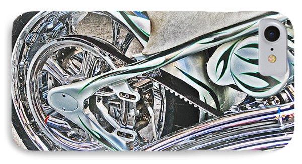 IPhone Case featuring the photograph Chopper Belt Drive Detail by Samuel Sheats