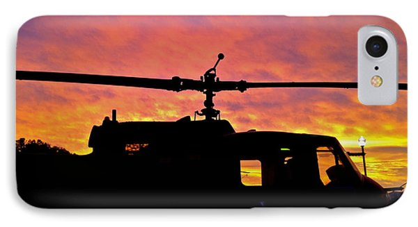 IPhone Case featuring the photograph Chopper Down - No.0563 by Joe Finney
