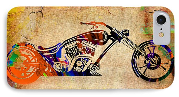Chopper Motorcycle IPhone Case by Marvin Blaine