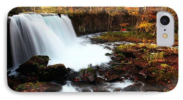 Choushi - Ootaki Waterfall In Autumn IPhone Case