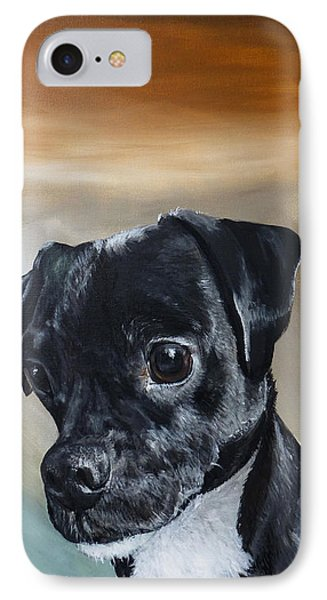 Chowder The Pug Rat Terrier Mix Phone Case by Michelle Iglesias