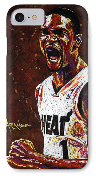 Chris Bosh Phone Case by Maria Arango