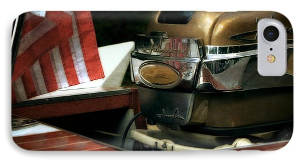 Chris Craft With Johnson Motor Phone Case by Michelle Calkins