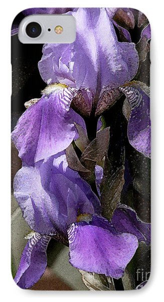 Chris' Garden - Iris 4 IPhone Case by Stuart Turnbull
